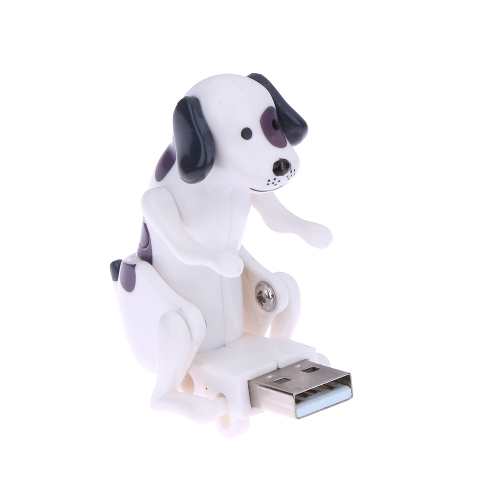 Mini Funny Cute USB Humping Spot Dog Toy for Kids White Laptop Gift