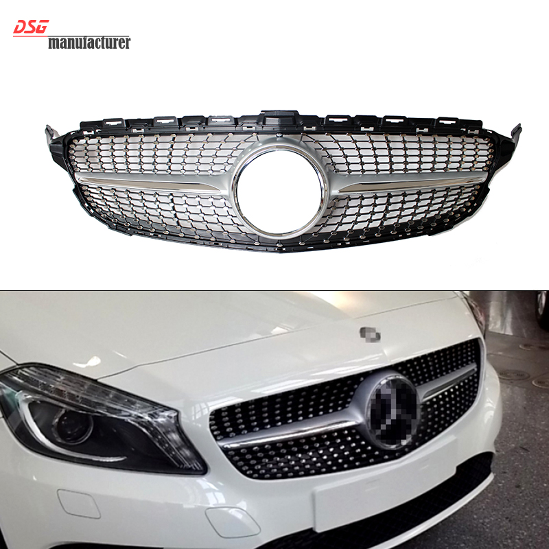 Abs plastic mercedes w205 diamond grill grille for benz for Mercedes benz grills