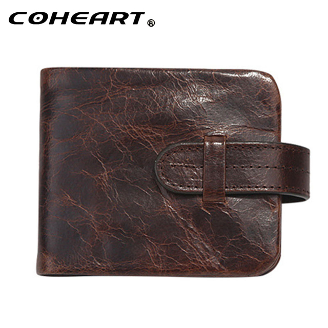 62d04d06ad US $14.46 |100% Genuine leather Wallets Men Top Quality Vintage Style Hasp  Purse with Coin Pocket Mens Zipper Wallet Retro Purses Nice !-in Wallets ...