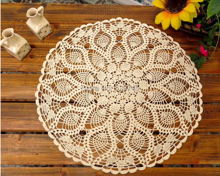 Elegant Aliexpress.com : Buy Handmade Crochet Flower Cotton Lace Tablecloths  Idyllic Small Round Decorative Cushion Cover Cloth Openwork Doilies From  Reliable ...