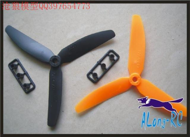 EP5030(R/S) 3 blades Propeller for RC airplane spare part/aircraft/KK multicopter 4Axis Quad copter UFO (5PCS5030R+5PCS5030S)