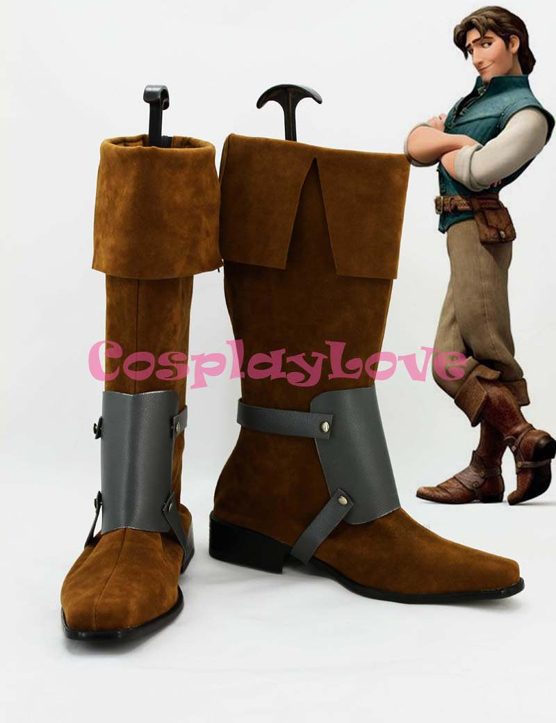 Tangled Rapunzel Flynn Rider Cosplay Shoes Boots Custom Made For Halloween Christmas Festival CosplayLove