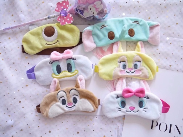 Cute 1pc 18cm plush chipmunk Mary cat Bunny eye patch blinder pacify sleep stuffed toy girl children gift