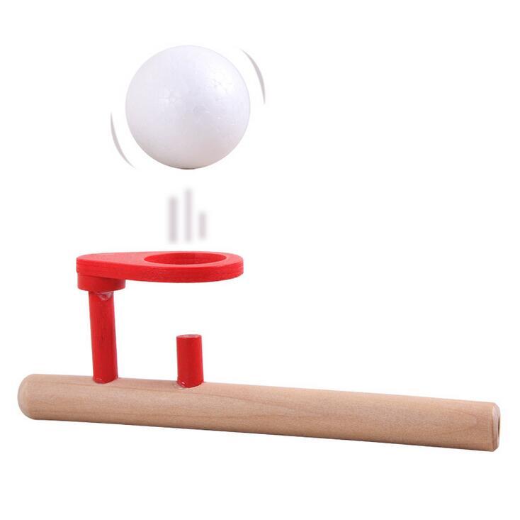 Schylling Sopro Brinquedos Passatempos Diversão Ao Ar Livre Brinquedo Esportes Bola de Espuma flutuante jogo de bola De Madeira crianças Educação crianças do presente do bebê