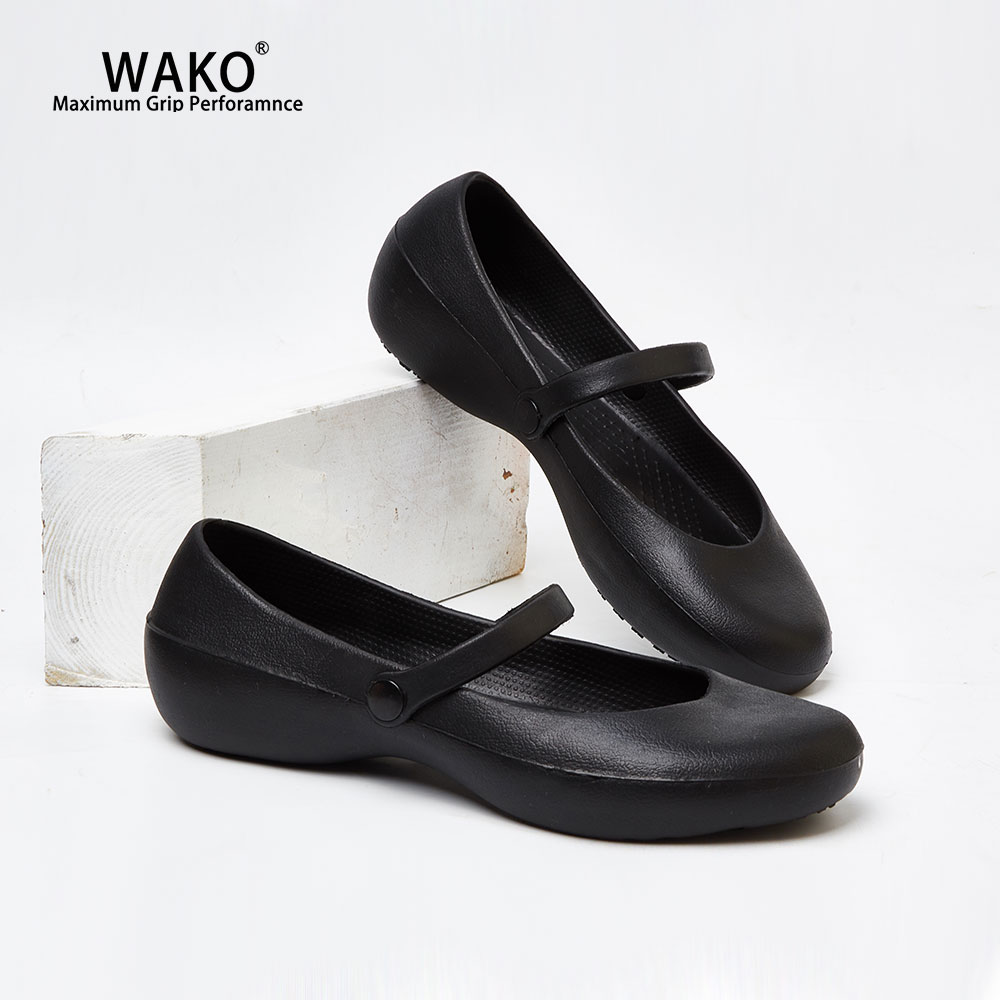 WAKO Women Chef Shoes Non-Slip Kitchen Safety Anti-Skid Cook Sandals Clogs Waterproof For Hospital Doctor Nurse Work Shoes 8011