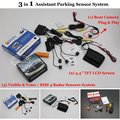 """For Renault Clio 3 4 / Lutecia - Car Parking Sensors + Rear View Camera + 4.3"""" LCD Screen = 3 in 1 Visual Alarm Parking System"""