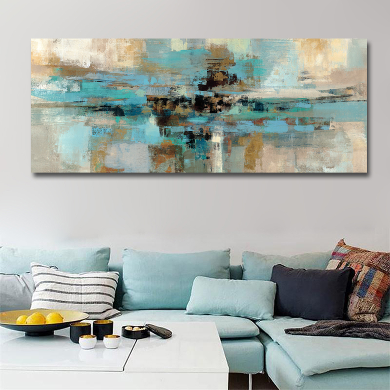Modern Abstract Long Canvas Print Painting Pictures Posters And Prints For Living Room Home Decoration Wall Art No Frame image