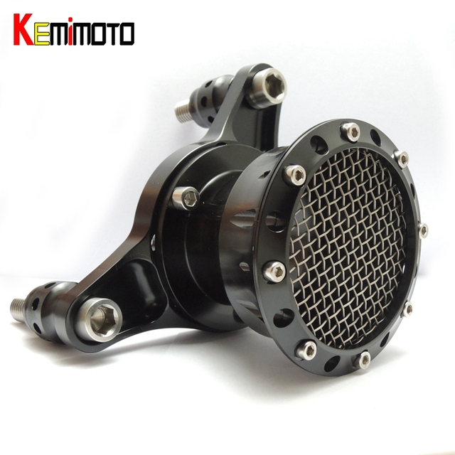 Para 1991-2014 Sportster 883 1200 & Big Twin/Twin Cam 1993-2006 (Carburadores CV) Velocity Stack Air Cleaner Kit Preto
