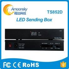 Linsn ts802 sendende Karte LED-Display-Controller externe Senden Box Unterstützung Novastar Colorlight senden Karte mit Helligkeit