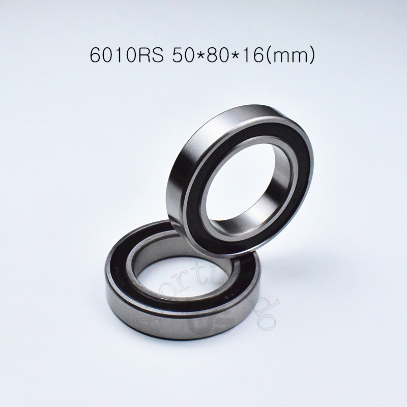 6010RS 50*80*16mm Free Shipping 1Piece Bearing Rubber Sealing Bearings 6010 6010RS Chrome Steel Deep Groove Bearing