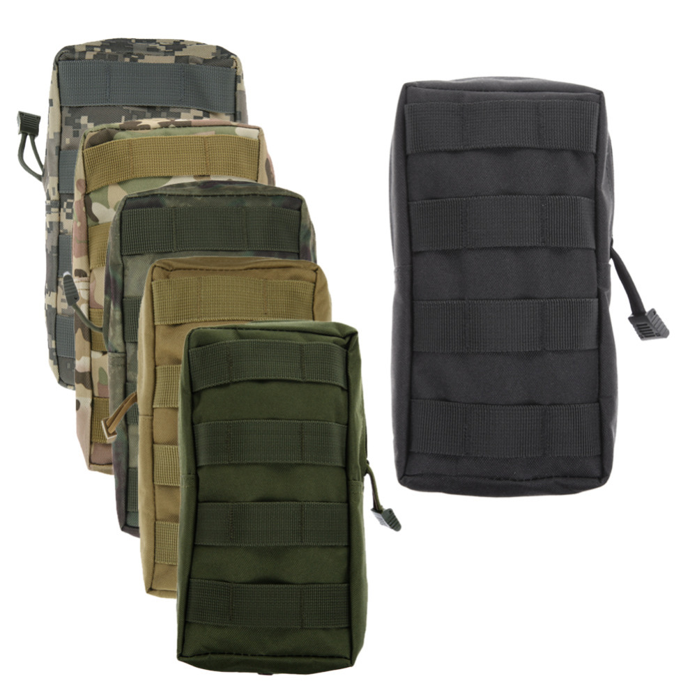 Portable Outdoor Airsoft Molle Tactical Waist Bag Waterproof Medical Military First aid Phone Nylon Sling Pouch belt Bag Case
