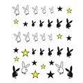 Una Pieza!!! nuevo Estilo de la Etiqueta Engomada Del Clavo Manga Opp Embalaje Cabeza de Conejo Liebre Trasvases Nail Stickers Decals Agua Decal