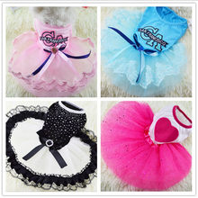 Summer Dog Clothes Soft Cotton Cat  Clothing Puppy Outfit For Small Skirt pet dog