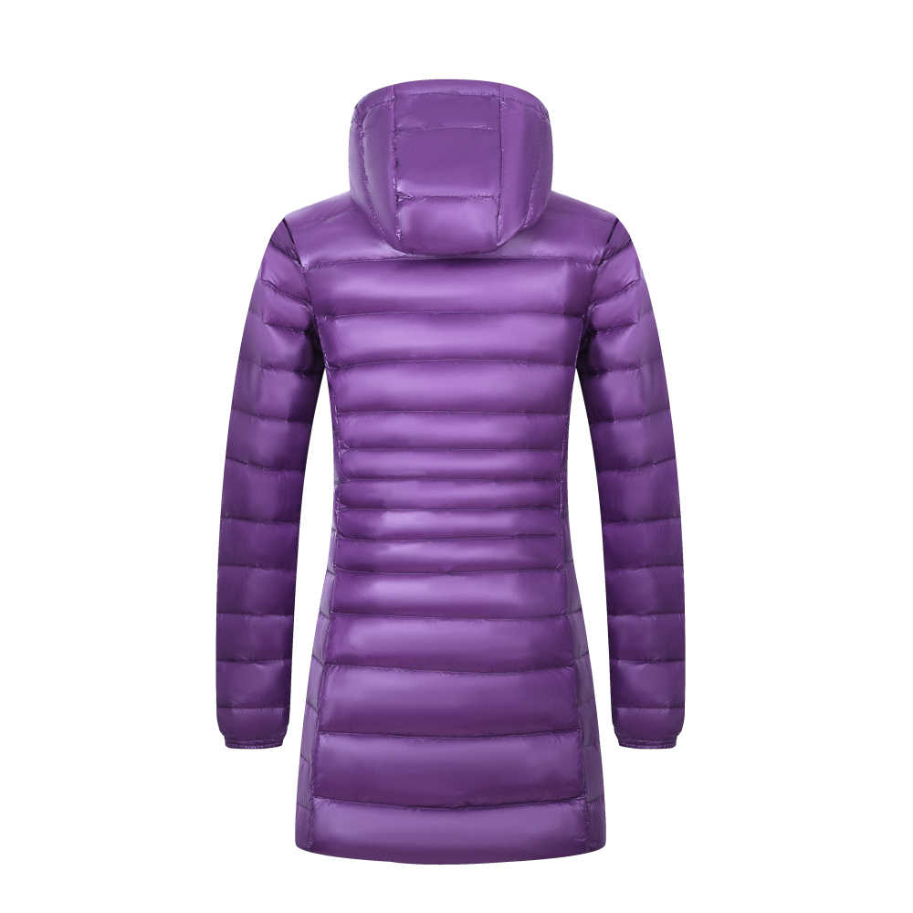 Новый бренд 6XL 7XL 8XL плюс размер пуховик женский длинный зимний ультра легкий пуховик женский с капюшоном Перо Куртка теплое пальто