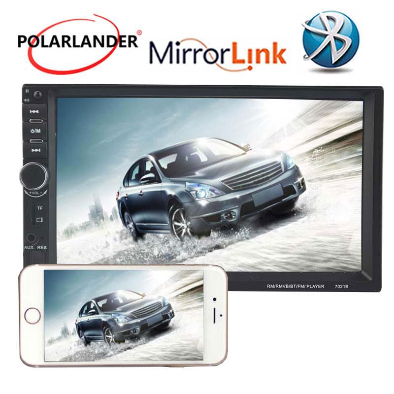 7 pouces Autoradio lecteur de cassette voiture MP5 lecteur Bluetooth 2 Din radio USB/TF FM Aux écran tactile miroir lien écran