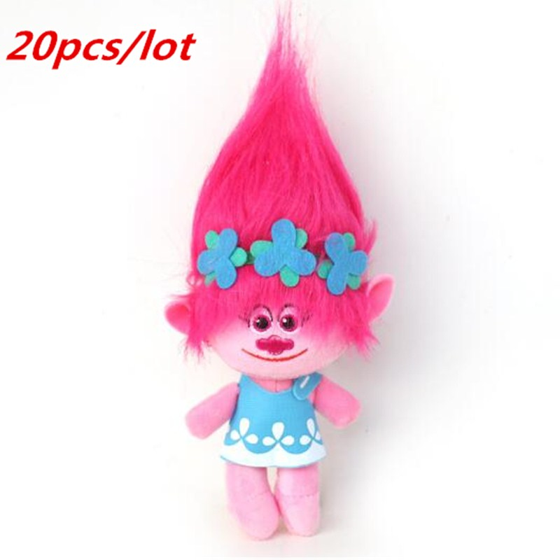 20pcs /lot DHL UPS Delivery Dreamworks Movie Trolls Toy Plush Trolls Poppy Trolls Figures Magic Fairy Hair Wizard Kids Toys 6pcs set 8cm trolls movie figure collectible dolls poppy branch biggie pvc trolls action figures toy for kids christmas gifts