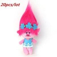 20pcs /lot DHL UPS Delivery Dreamworks Movie Trolls Toy Plush Trolls Poppy Trolls Figures Magic Fairy Hair Wizard Kids Toys