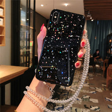 Fashion Bling Starry sky Lanyard Soft TPU Silicone Back Cover For Huawei P20 Lite P30 Pro Phone Cases Fundas Coque Capa