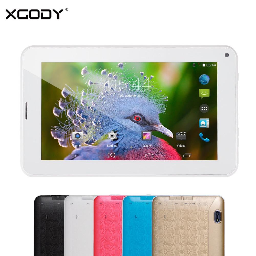 XGODY 86 V 7 Pulgadas Tablet PC Android 4.4 MTK MT6572 Dual Core 512 MB RAM 4 GB