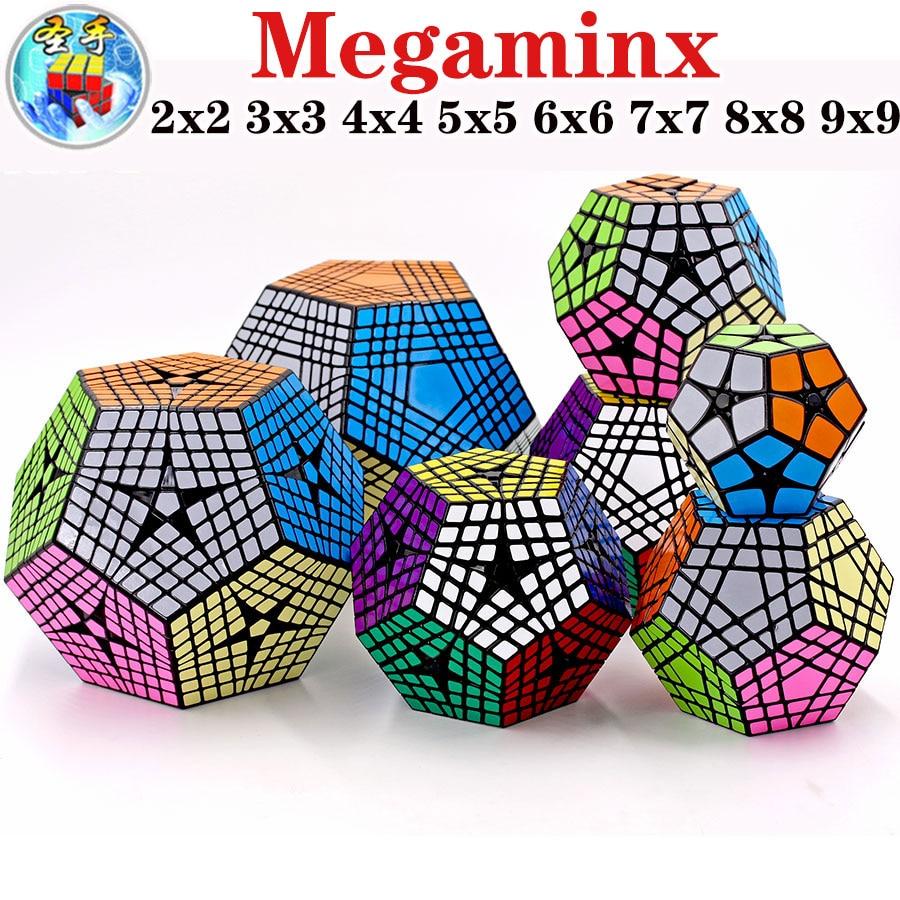 Magic Cube Puzzle Shengshou SengSo Megamin X Cube 2x2 3x3 4x4 5x5 6x6 7x7 8x8 9x9 Dodecahedron Megaminxeds Educational Twist Toy
