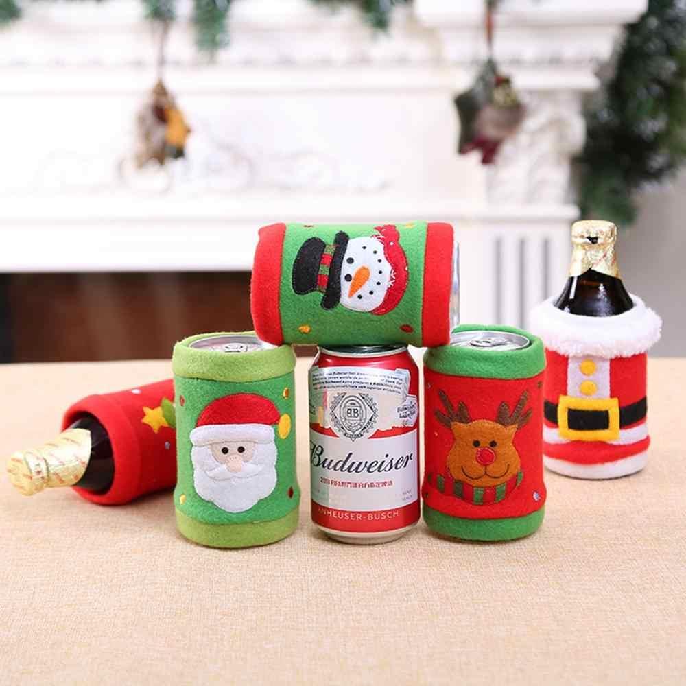 FengRise ozdoby choinkowe do domu mikołaj pokrowiec na termofor do wina skarpeta prezentowa z bałwanem Xmas dekoracja świąteczna nowy rok