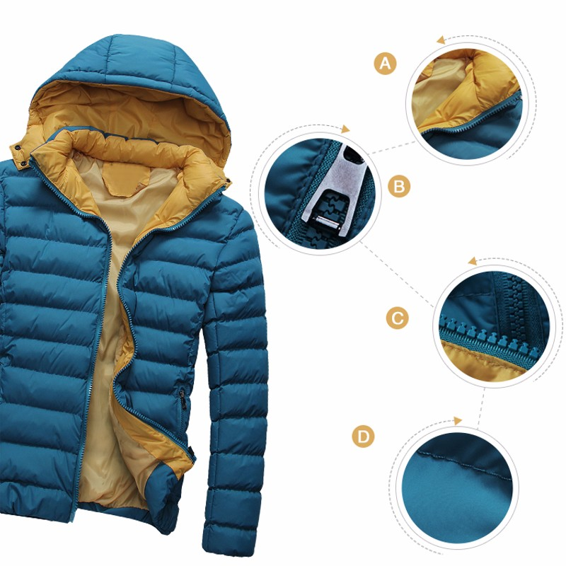 0387abc68 Winter Puffer Jacket Fashion Style Candy Color Splice Men Youth Down ...
