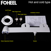 Non electric bathroom toilet seat bidet self cleaning sprayer nozzle for toilet seat gynecological washing hot cold water