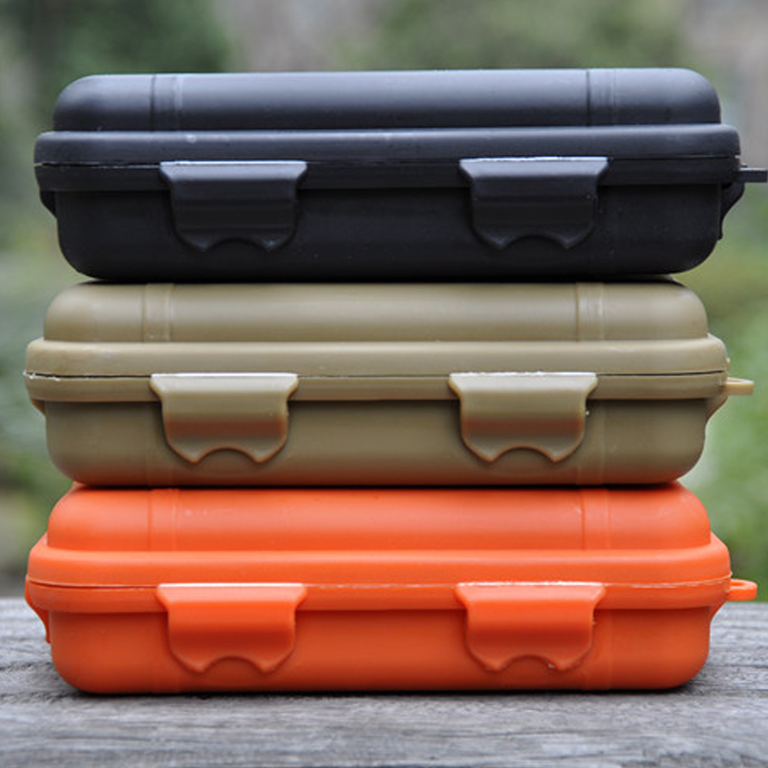 1pcs Outdoor Shockproof Waterproof Plastic Box Storage Case Airtight Survival Box Carry Camping Tackle Tool Container