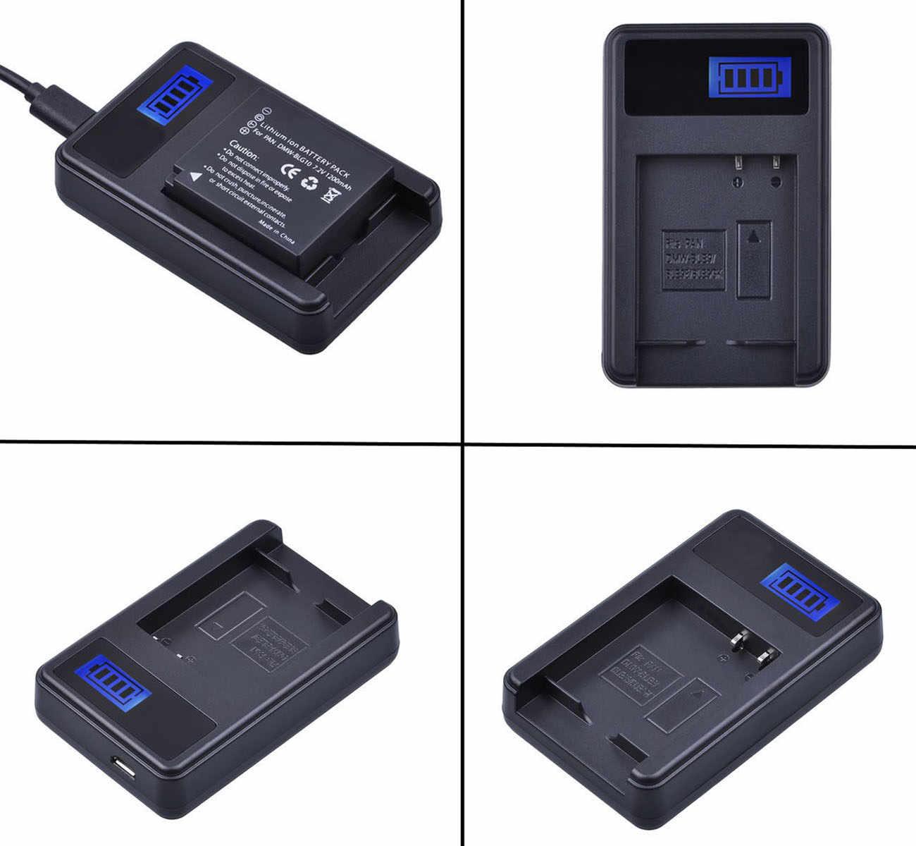 Carregador de bateria para Panasonic Lumix DMC-GM1, DMC-GM5, DMC-GX7, DMC-GX80, DMC-GX85, DC-GX800, DC-GX850, DC-GX9 Câmera Digital