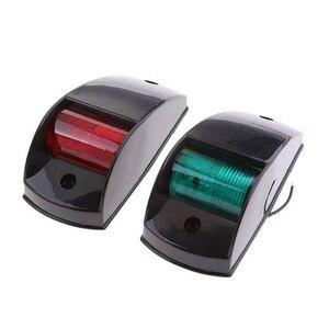 Image 3 - 12 فولت مركبة بحرية يخت أضواء الملاحة LED الأحمر الأخضر الإبحار مصباح إشارة اكسسوارات للقوارب