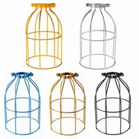 Top Quality Vintage Steel Bulb Guard Clamp On Metal Lamp Cage Retro Trouble Light Industrial Pendant