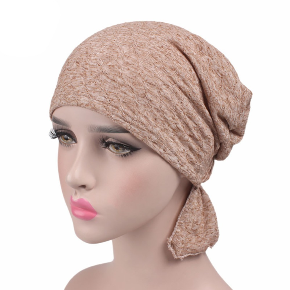 Women's Bubble Cotton Kerchief Chemotherapy Hat ancer cap Patient  hat Muslim solid color jaspreet kaur and neeloo singh antileishmanial chemotherapy