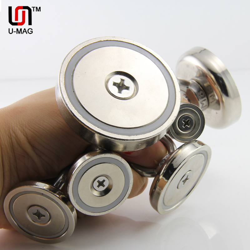 super powerful hole salvage magnets pot magnets permanent Neodymium deep sea salvage fishing hook magnet all size