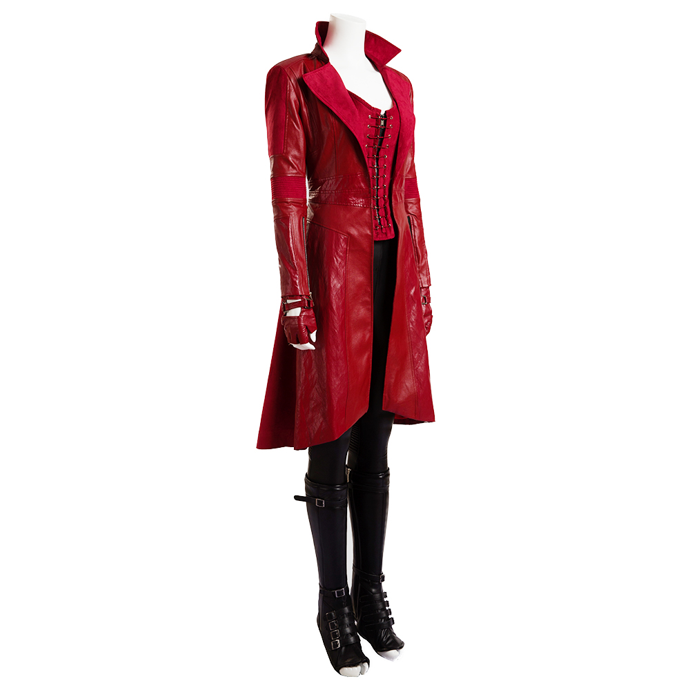 Quality Scarlet Witch Cosplay Costume Avengers Age of Ultron Wanda Maximoff Scarlet Cloth