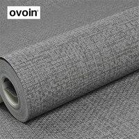 PVC Textured Grey Wallpaper Gray Modern Plain Wall Paper Roll For Walls Bedroom