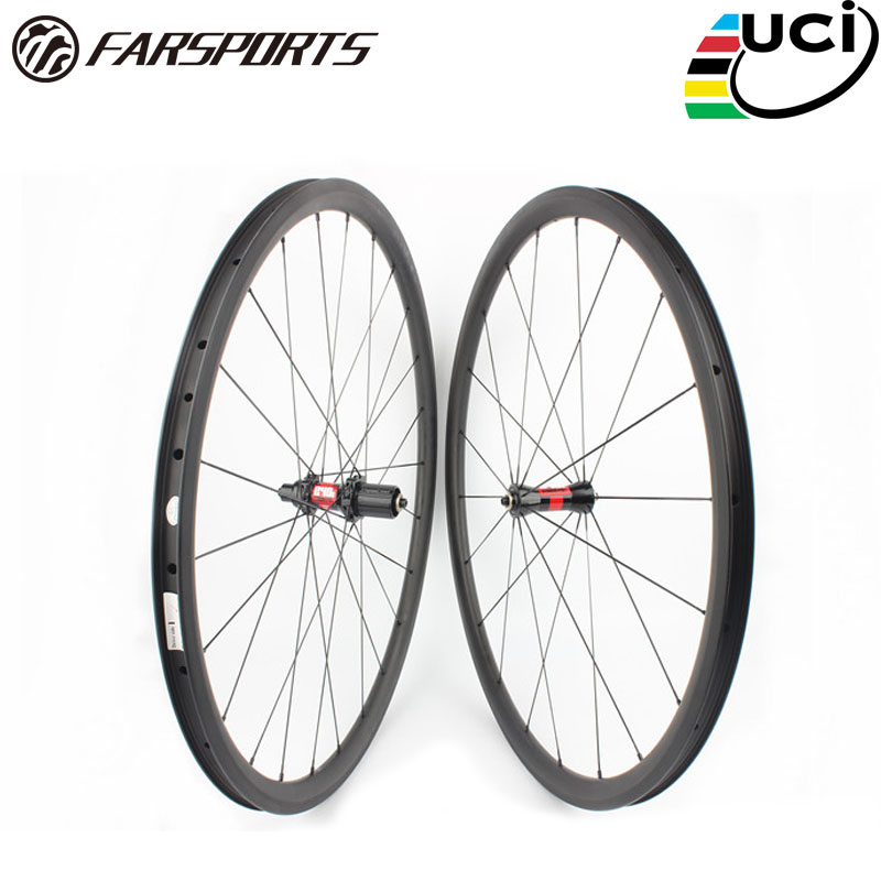 Farsports FSC38-CM-23 DT240 (36 Ratchets) 38mm 23mm carbon tubeless wheelset,38 deep profile OEM China bike clincher wheels farsports fsc88 cm 23 ed hub bike clincher carbon wheels 88mm 23mm for road bicycle 88 high profile clincher wheel rims