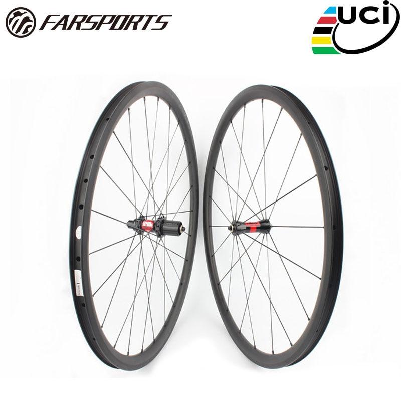Farsports FSC38-CM-23 DT240 38 millimetri 23 millimetri di carbonio tubeless ruote, 38 profondo profilo OEM Cina della bici della graffatrice ruote