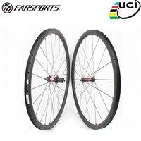 Farsports FSC38-CM-23 dt240 38mm 23mm 탄소 튜브리스 wheelset  38 깊은 프로필 oem 중국 자전거 clincher 바퀴