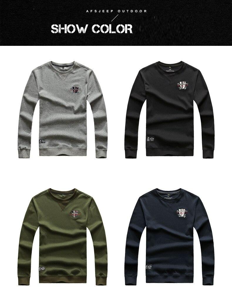 promo code 3b996 4b3f6 AFS JEEP Marke Pullover Männer Pullover Einfarbigen Pullover Langarm  Oansatz Baumwolle Sweatshirt Männer Plus Größe M-3XL Homme Mantel