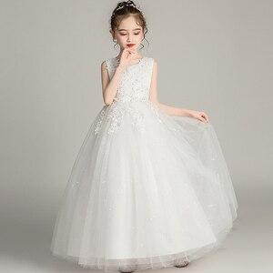Image 2 - GirlsCampus 졸업 댄스 파티 롱 드레스 플라워 걸스 웨딩 신부 들러리 유적 파티 길이 들러리 드레스