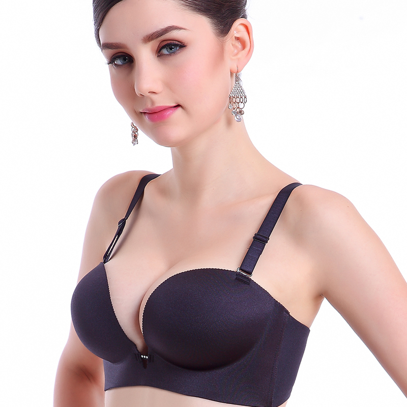 DeRuiLady Women Push Up Bra Backless Strapless Deep V Sexy ...