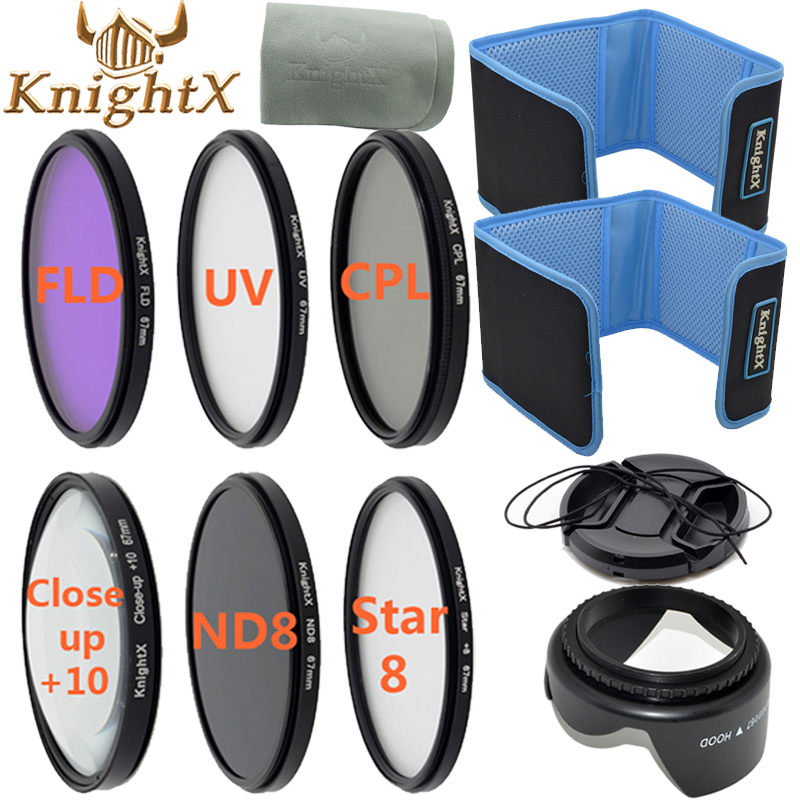KnightX FLD UV CPL Star Close up 52mm 58mm Lens Filter for Canon Nikon d5200 d5300 d3200 d3300 d5500 Canon d1200 Sony SLR camera