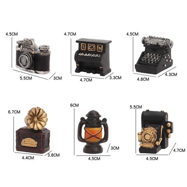 Retro Radio Pianos Cameras Lamp Model Antique