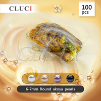 100pcs Vacuum Packed Oysters With 6 7mm Round Akoya Pearls