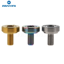 Wanyifa Titanium Crank Bolt Road Bike Cycling Ti Screw Extractor Sleeve M8x15mm