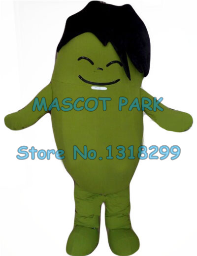 Cute green bean boy mascot costume adult size health theme cartoon bean anime cosplay costumes carnival fancy dress kits toy story costumes adult