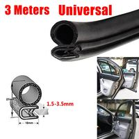 3 Meters Rubber Car Auto Door Trunk Lip Edge Seal Trim Protector Strip Universal