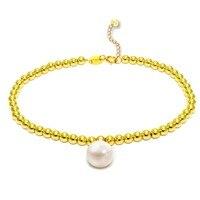 Sinya 3mm18k золотой браслет из бусин для женщин девочек Mum lover Длина 16 + 2 см может с регулируемой окружностью диаметр жемчуга 8,5 мм