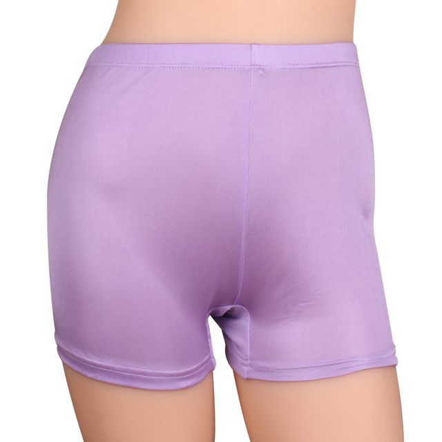 Knitted silk female silk trousers silk double faced solid color shorts high waist abdomen drawing trunk
