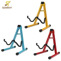 Universal Folding A Frame Guitar Floor Stand Holder Electric Acoustic Rest Rack For Classic Acoustic Electric